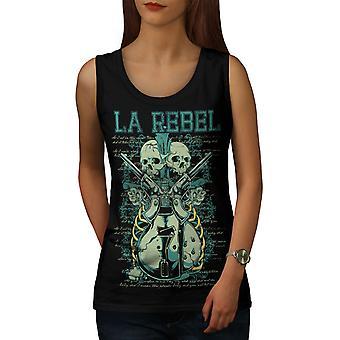 Rebel Gun Mafia Women BlackTank Top | Wellcoda