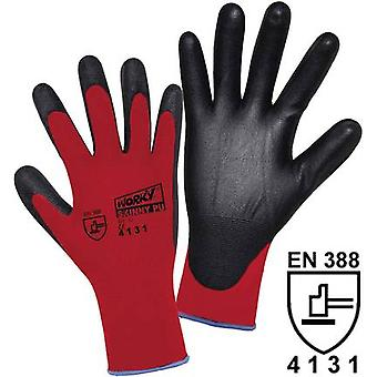 worky 1177 Worky 1177 Skinny PU Coated Knitted Nylon Gloves (Size 11, Red/Black)