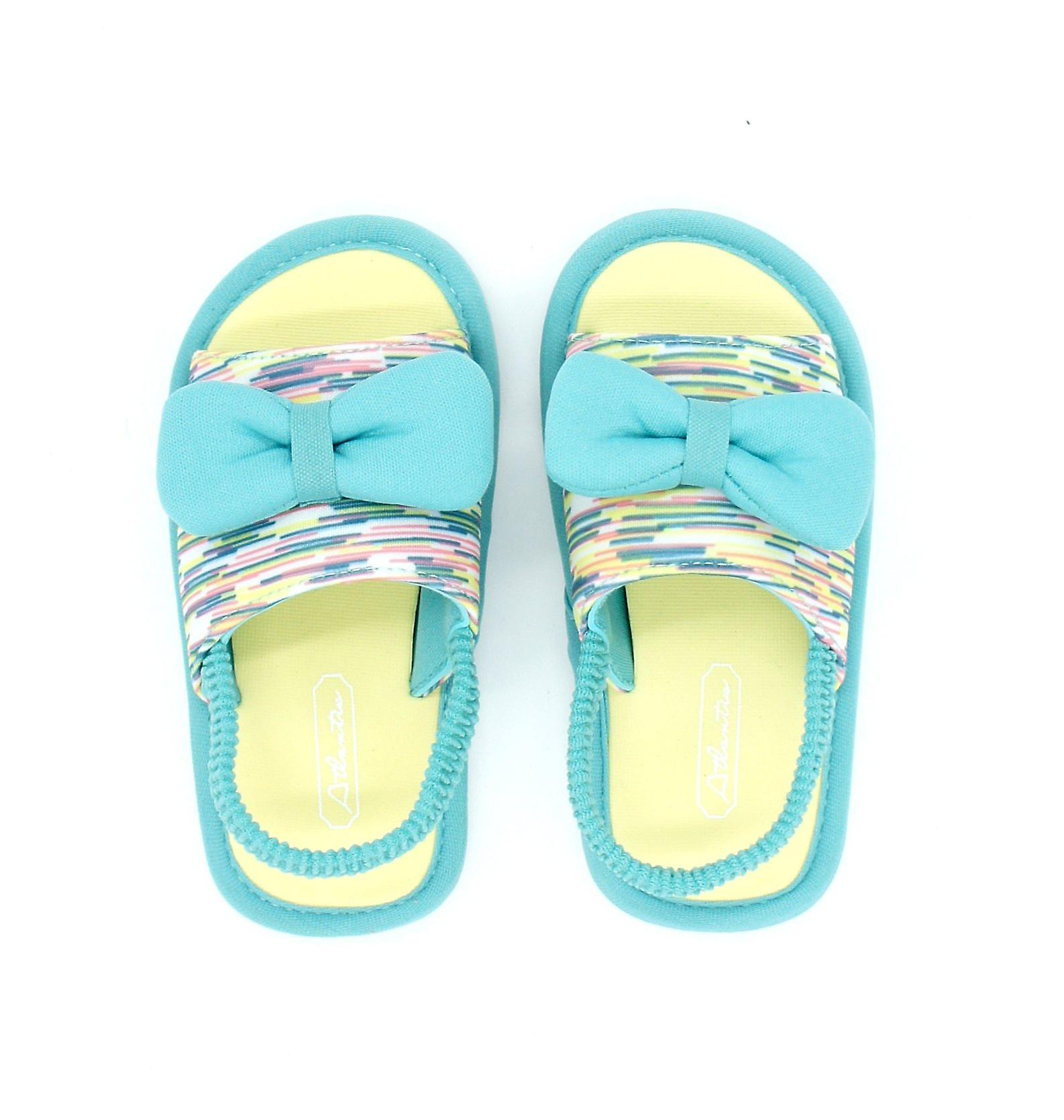 Atlantis Shoes Kids Girls Supportive Cushioned Comfortable Sandals Butterfly Turquoise