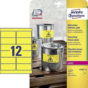 Avery-Zweckform L6107-20 Labels (A4) 99.1 x 42.3 mm Polyester fi