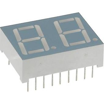 Seven-segment display Red 14.2 mm 2 V No. of digits: 2