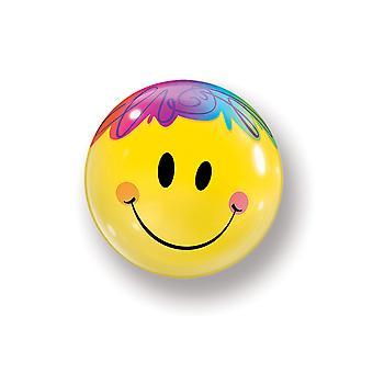 Ballon Bubble Kugel Smiley Emoticon Lächeln circa 55cm Folienballon