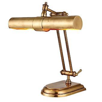 Interiör 1900 Winchester 2 ljus mässing bordlampa i Mell