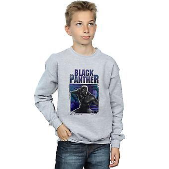 Marvel Boys Black Panther Tech Badge Sweatshirt