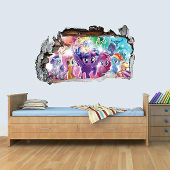 GNG My Little Pony The Movie Vinyl Smashed Wall Art Decal Stickers Bedroom Boys Girls 3D