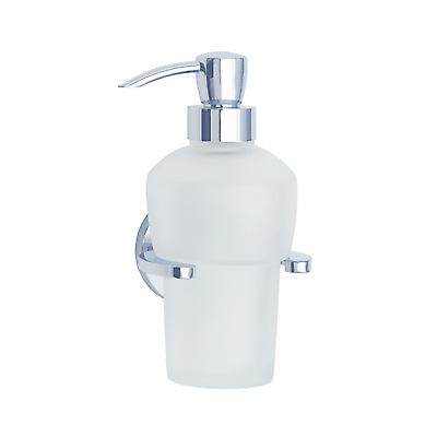 Loft Wallmount Holder With Glass Soap Dispenser - Polished Chrome(LK369)