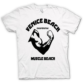 Womens T-shirt-Venice Beach sportschool Californië spier