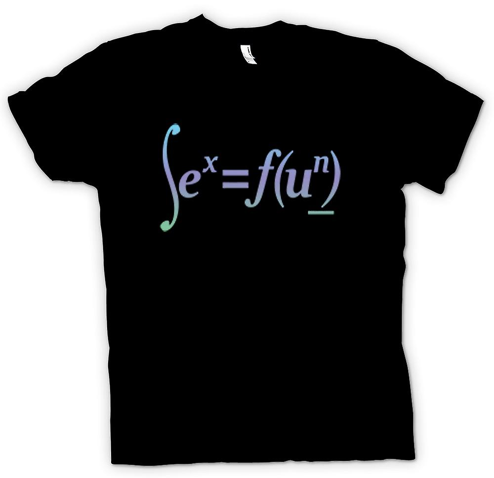 T-shirt - les enfants du sexe = Fun - Design formule Math