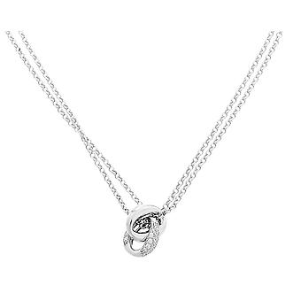 Orphelia Silver 925  Necklace Double Chain Two Links Zirc  ZK-7176