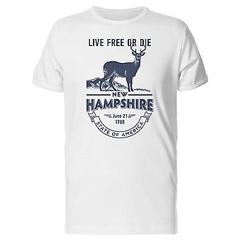 Live Free Or Die New Hampshire Tee Men's -Image by Shutterstock