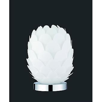 Estrangulador de trío iluminación lámpara de mesa de Metal moderna cromo