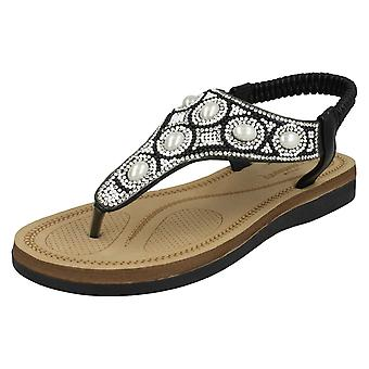 Ladies Savannah Pearl Toepost Sandals F00101