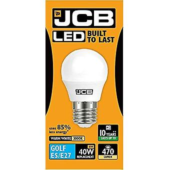 1 X JCB 6w LED E27 Golf Ball Bulbs Edison Screw, 40w Incandescent Bulb Equivalent, 470lm, Warm White 3000k , Non Dimmable, LED Edison Screw Golf Ball Light Bulbs, 220-240v[Energy Class A+]