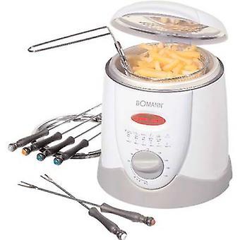 Fondue deep fryer 840 W with manual temperature settings Bomann