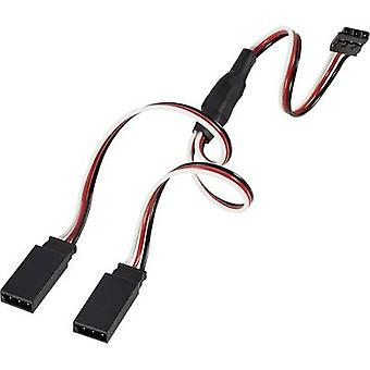 Servo Y cable [2x Futaba plug - 1x Futaba socket] 300 mm 0.14 mm² Modelcraft