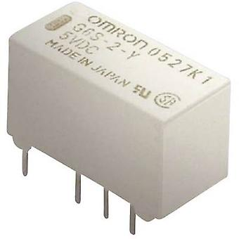 Omron G6S-2 5 VDC PCB relay 5 Vdc 2 A 2 change-overs 1 pc(s)