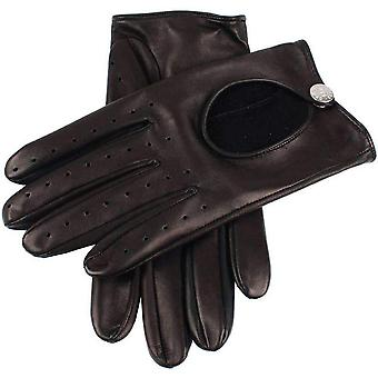 Dents Cliveden Hairsheep Leather Driving Gloves - Black