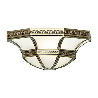 Interiors 1900 Balfour Traditional Style Bronze Tiffany Wall Lamp
