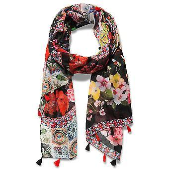 Desigual sjaal pashmina sjaal Fular micro Raport Rojo 18WAWW47/3005