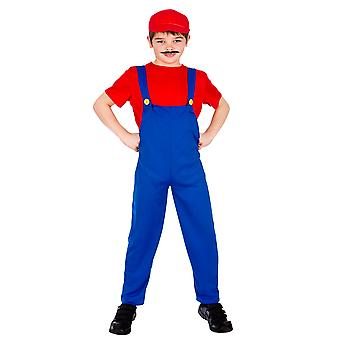 Wicked Children's Kids Red Funny Plumber Fancy Dress Costume