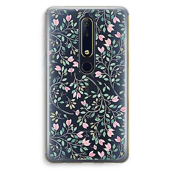 Nokia 6 (2018) Transparent Case (Soft) - Dainty flowers