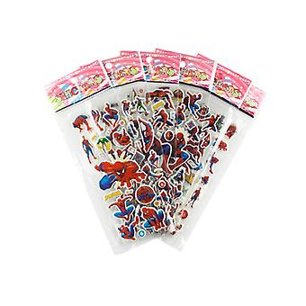 Spiderman stickers in 3D-2 Sheets (about 24 pieces)