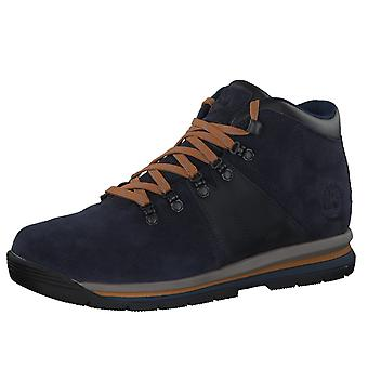 Timberland mens real leather lace-up boots rally mid leather Blau