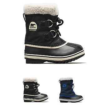 Unisex Kids Sorel Youth Pac Nylon Snow Waterproof Fur Lined Ankle Boots