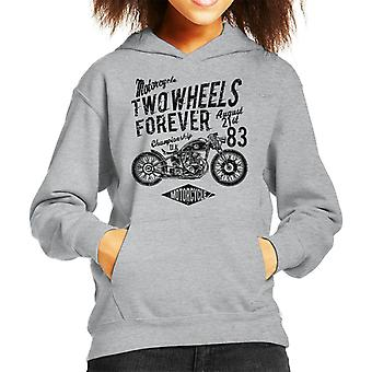 Due ruote moto per sempre Hooded Sweatshirt di Kid