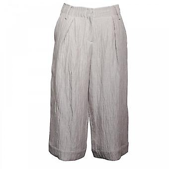 Crea konseptet kvinners teksturert Lin Culottes bukse