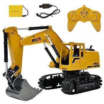 8ch Simulation RC excavator toy with music and light kids boys RC truck Toys Gifts RC car tractor brinquedos Technique