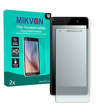 Wiko Fever 4G Screen Protector - Mikvon Clear (Retail Package with accessories) (reduced foil)
