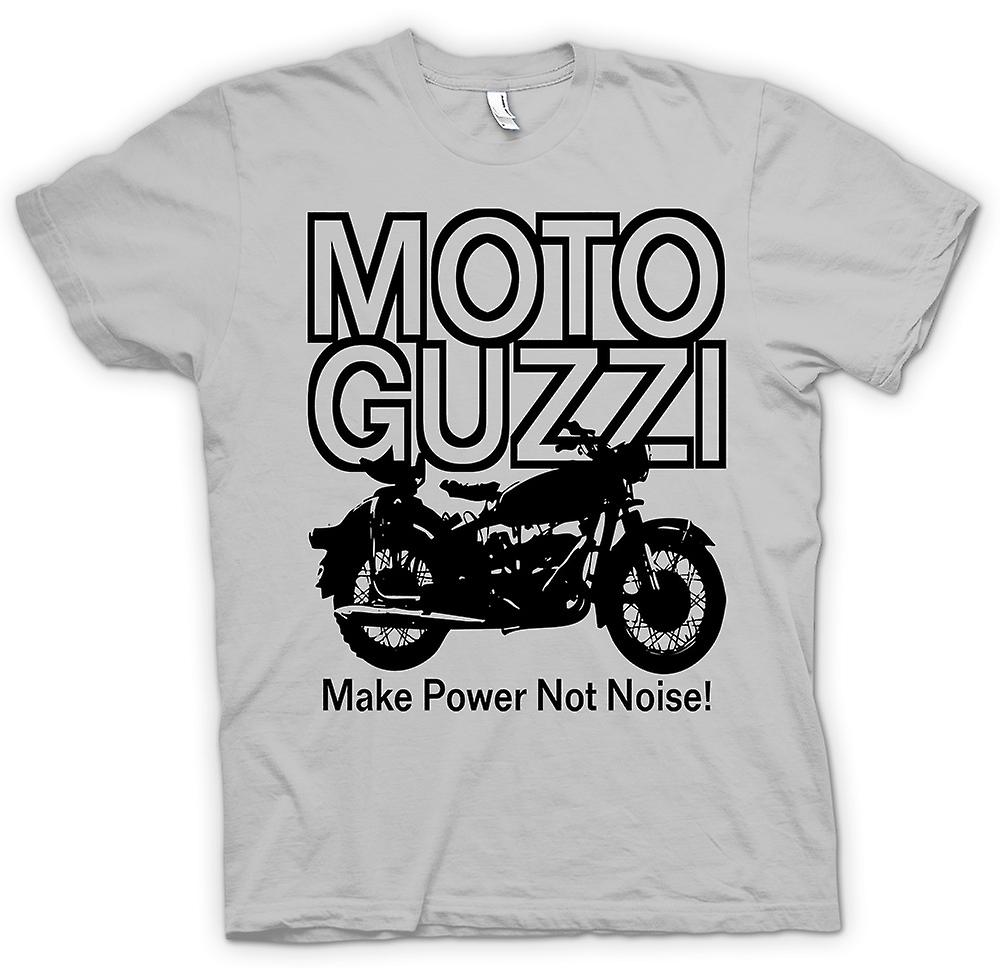 Mens T-shirt - Moto Guzzi Make Power Not Noise