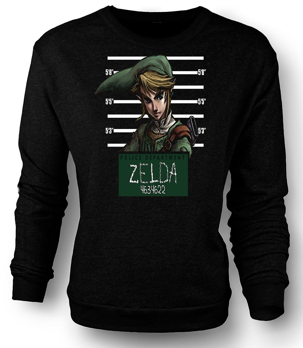 Mens Sweatshirt Zelda - Mug Shot - Funny