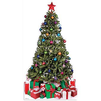 Recorte de cartulina grande arbolito de Navidad (Navidad) / pie