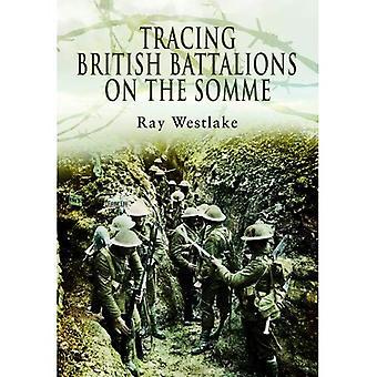 Traçage des bataillons britanniques sur la Somme