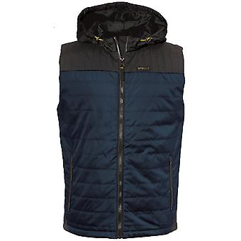 Caterpillar Mens Storm Hooded Durable Quilted Vest Gilet