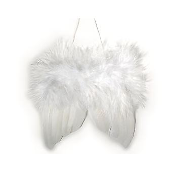 White Feather Christmas Angel Wings for Crafts - Pack of 2 | Peg Doll Crafts