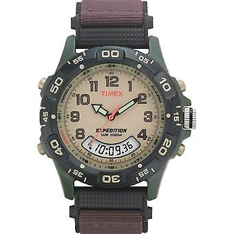 Polshorloge van Timex T45181SU analoge digitale, Brown