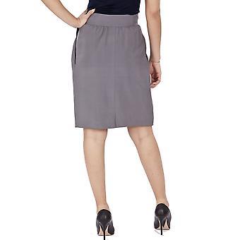 Falda de lana gris de Blumarine