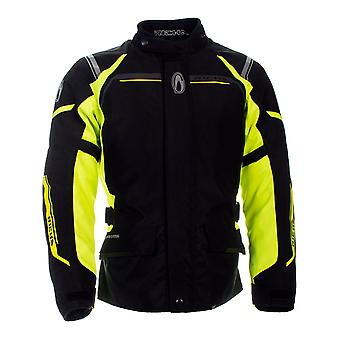 Richa Black-Fluorescent Storm 2 X Waterproof Motorcycle Jacket