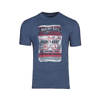 Distress Scoreboard Tee - Mid Blue
