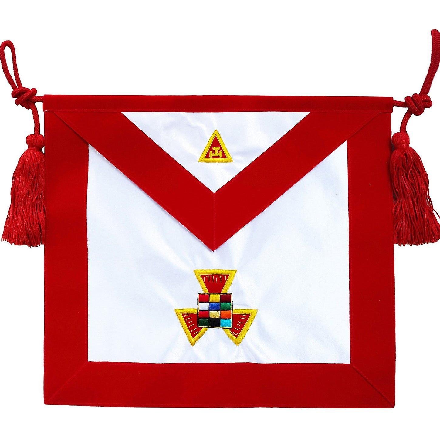 Masonic Royal Arch RAM Past High Priest PHP Apron Hand Embroiderouge
