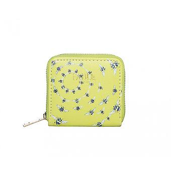 Fable Womens/Ladies Vintage Bee Print Small Purse