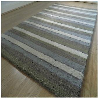 Rugs -Handloom Multi Stripe - Sage