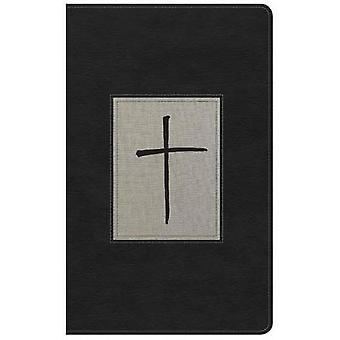 NKJV Ultrathin Reference Bible - Black/Gray Deluxe Leathertouch - Ind