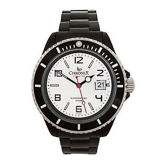 Chronix sportivo da uomo stile orologio nero avorio (CHR21382-SBIWH)