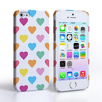Caseflex iPhone 5 and 5S Polka Hearts Pastel Case