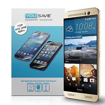 Yousave Accessories HTC One M9 Plus Screen Protectors x3
