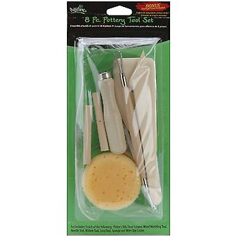 Pottery Tool Set 8 Pieces A8ps